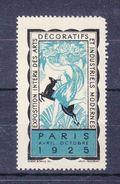 EXPOSITION INTERNE DES ARTS DECORATIFS ET INDUSTRIELS MODERNES - PARIS 1925 - BLEU - Erinnophilie