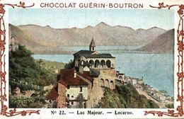 CHROMO CHOCOLAT GUERIN BOUTRON VOYAGE EN ITALIE LAC MAJEUR LOCARNO - Guerin Boutron