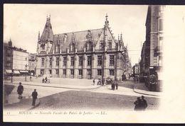 CPA - ROUEN (76 - SEINE MARITIME) - NOUVELLE FACADE DU PALAIS DE JUSTICE (N° 11) - ANIMEE - Rouen