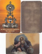 11136-N°. 3 CARDS SANTINI - SINDONE-IL MIRACOLO EUCARISTICO DI LANCIANO-PADRE ETERNO - Religion & Esotericism