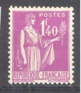 "France: Yvert N° 371**; MNH; Type ""Paix""; Cote 14.00€ - 1932-39 Paix"