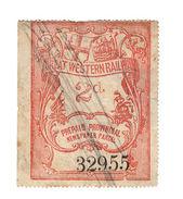 (I.B) Great Western Railway : Provincial Newspaper Parcel 2d (large Format) - 1840-1901 (Victoria)