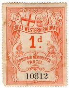 (I.B) Great Western Railway : Newspaper Parcel 1d (large Format) - 1840-1901 (Victoria)