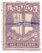 (I.B) Cinderella Collection : Circular Delivery Company (London ½d) - 1840-1901 (Victoria)