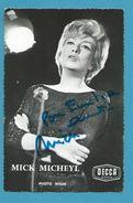 CPSM Autographe Signature à L'encre Non Circulé Mick Micheyl - Autographes