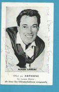 CPSM Autographe Signature à L'encre Non Circulé Roger LANZAC - Autographes