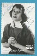 CPSM Autographe Signature à L'encre Non Circulé Colette Renard - Autographes
