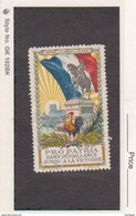 France WWI Orleans - French Flag Jeanne D'Arc - Red Cross Vignette - Military Heritage