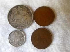 Ethiopia: 4 Coins Menelik II - Ethiopie