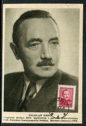 Pologne - Carte Maximum 1948 - Boleslaw Bierut - Maximumkarten