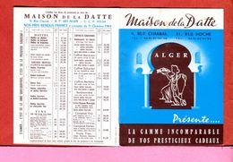 ALGERIE AFN Dépliant Publicité Calendrier 1961 De La Maison De La Datte Rue Charras Alger Destiné Surtout Aux Militaires - Advertising
