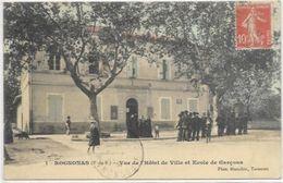 13. ROGNONAS.  VUE DE L HOTEL DE VILLE ET ECOLE DE GARCONS - France