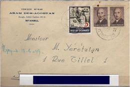 TURKEY , EARLY OTTOMAN SPECIALIZED FOR SPECIALIST, SEE....Brief Von Istanbul Nach Allepo -R- - 1921-... Republik