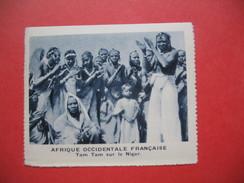 Chromo Image Vignette AOF Afrique Occidentale Française - Tam Tam Sur Le Niger  ( 6.5 X 7.5 Cm) - Chromos