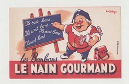 BUVARD BONBONS LE NAIN GOURMAND - Cake & Candy