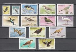 St Kitts 1981,14V In Part Set,birds,vogels,vögel,oiseaux,pajaros,uccelli,aves,MNH/Postfris,(A3463) - Vogels