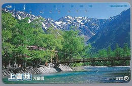 JP.- Japan, Telefoonkaart. Telecarte Japon. NTT. TELEPHONE CARD 105. - Landschappen