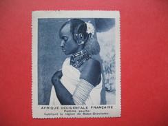 Chromo Image Vignette AOF - Femme Peulhe Habitant La Région De Bobo-Dioulasso  Afrique Occidentale Française 6.5 X 7.5 C - Chromos