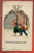 Image Pieuse Holy Card A-Marie & Noëlle Martres Bienheureux Les Pauvres En Esprit Illustrateur Gouppy - Enfantine Neige - Imágenes Religiosas
