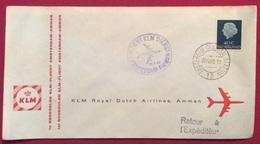 POSTA AERA AEROGRAMMA KLM ROYAL DUTCH AIRLINES AMMAN  AMSTERDAM - AMMAN 28/4/1960 - Posta