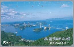 JP.- Japan, Telefoonkaart. Telecarte Japon. NTT. TELEPHONE CARD 105. BRUG - Landschappen