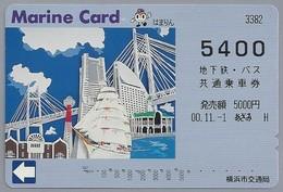 JP.- Japan, Telefoonkaart. Telecarte Japon. MARINE CARD 5400 - Reclame