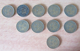 Hong-Kong - 10 Monnaies Ten Cents - 1948, 1949 Et 1950 - TTB - Hong Kong