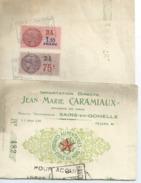 SAINS EN GOHELLE J.M.CARAMIAUX Lettre De Change 1937 Avec Timbres Fiscaux  D A Port  1euro - France