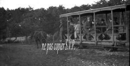 33 ARCACHON NEGATIF PHOTO TRAMWAY A CHEVAL Conduisant De BELISAIRE à CAP FERRET PAS CARTE POSTALE - Arcachon