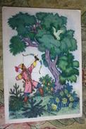 "Russian  Fairy Tale - OLD USSR  Postcard -  ""Andrey The Shooter"" By Vasnetsov - 1964 - Arch / Archer - Tir à L'Arc"