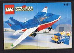 Notice Plan LEGO System N° 6331 De 1996 / Avion - Lego System