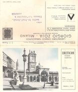 Cartolina Postale Pubblicitaria URETICON Diuretico Laboratorio Chimico - Friuli - Commercio