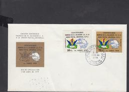 EL SALVADOR  1979 - Yvert 856+A426 - FDC  -  U.P.U. - El Salvador