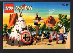 Notice Plan LEGO System N° 6746 De 1997 / Camp Indiens - Lego System