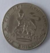 Monnaie - Grande-Bretagne - 1 Schilling 1926 - Georges V - Argent - - 1902-1971 : Monnaies Post-Victoriennes