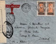 Porto Novo-Dinard Par Avion, Mai 1940, Censure - Lettres & Documents