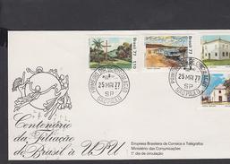 BRASILE 1977 - Yvert 1257/60 - Annullo Speciale Illustrato U.P.U. - FDC