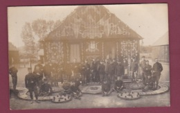 271117 - CARTE PHOTO - 72 CAMP D'AUVOURS - Militaria - Souvenir Fête Indépendance Belge 1916 - Other Municipalities