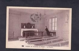 Anomalie Cachet à Date Haute Vienne  à L'envers Sur CPA Colonie De Vacances Du Mazet - La Chapelle - Marcophilie (Lettres)