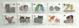 2012 Belgium Complete Set Domestic Animals,dieren,tiere,booklet Stamps Used/gebruikt/oblitere - Gebruikt