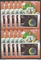 15x AJMAN - Space - Flight To Moon  - CTO - Space