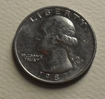 1987 - Etats - Unis - USA - QUARTER DOLLAR, Washington, (P), KM A164a - Bondsuitgaven