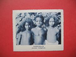 Chromo Image Vignette Cameroun - Jeune Indigènes -  6.5 X 7.5 Cm - Chromos