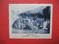 Chromo Image Vignette Cameroun - Yacundéré - Le Coiffeur -  6.5 X 7.5 Cm - Chromos