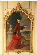 Carte    - Tableau  Peinture   -  Portrait D 'Adelaide , Duchesse De Bourgogne                AF1288 - Schilderijen