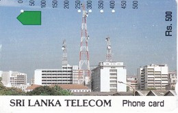 TARJETA DE SRY LANKA DE Rs.500 DE METROCARD DE UNA ANTENA DE TELECOMUNICACIONES - Sri Lanka (Ceilán)