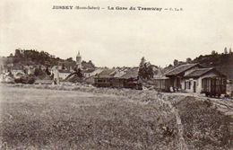 CPA - JUSSEY (70) - Aspect De La Gare Du Tramway Au Début Du Siècle - Sonstige Gemeinden