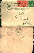 7691a) Lettera 2v. One Penny+1half Penny.da Londra.w. A Ragusa-sicilia-con Partenza 14-1-13 -arrivo 17- 1-13 - 1902-1951 (Koningen)