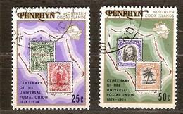 Penrhyn 1974 Yvertn° 54-55 (°) Oblitéré Used Cote 2,00 Euro UPU - Penrhyn