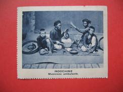 Chromo Image Vignette  Indochine - Musiciens Ambulants -   6.5 X 7.5 Cm - Chromos